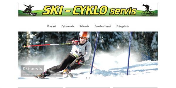 Webové stránky ski a cykloservisu